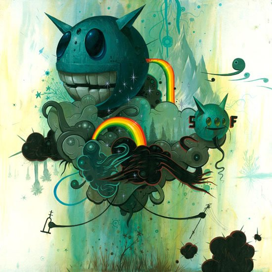 Jeff Soto - Thunde Clouds over a Flower