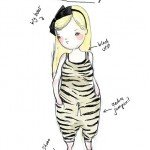 Kat Cameron - What I wore today doodle