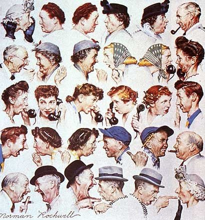 Norman Rockwell's Gossip