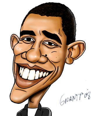 Barack Obama - Caricature 01