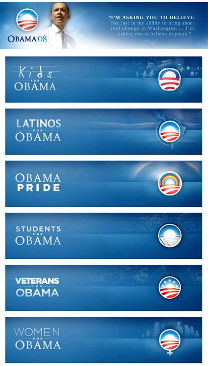Barack Obama Logo Variations