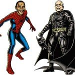 Obama as Spiderman & McCain as Batman